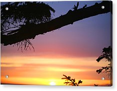 Sequim Sunset Ss 2007 Acrylic Print by Mary Gaines