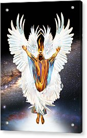 Seraph Cries Holy Acrylic Print by Ron Cantrell