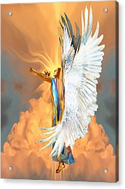 Seraph Cries Out Acrylic Print by Ron Cantrell