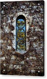 Serbian Church Window Acrylic Print by Stelios Kleanthous