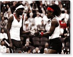 Serena And Venus Williams Acrylic Print