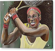 Serena Acrylic Print by James  Mingo