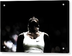 Serena Williams All Things Are Possible Acrylic Print