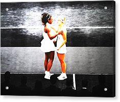 Serena Williams And Angelique Kerber 3a Acrylic Print by Brian Reaves