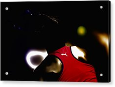Serena Williams Doing It Acrylic Print by Brian Reaves