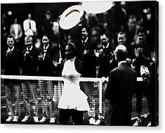 Serena Williams Eye On The Prize Acrylic Print