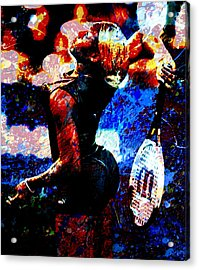 Serena Williams In The Paint Acrylic Print