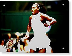 Serena Williams Making History Acrylic Print by Brian Reaves