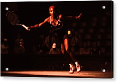 Serena Williams Passion Acrylic Print by Brian Reaves