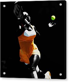 Serena Williams Putting It In Acrylic Print