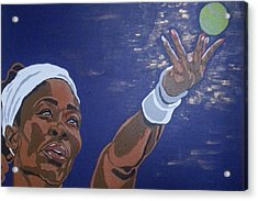 Acrylic Print featuring the painting Serena Williams by Rachel Natalie Rawlins