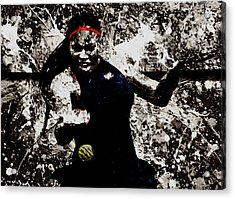 Serena Williams S4e Acrylic Print by Brian Reaves