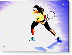 Serena Williams Soft Touch Acrylic Print