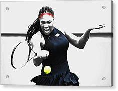 Serena Williams Stay Focused Acrylic Print