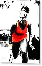 Serena Williams Go Get It Acrylic Print