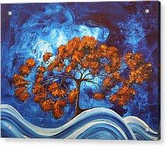 Serendipitous Original Madart Painting Acrylic Print by Megan Duncanson