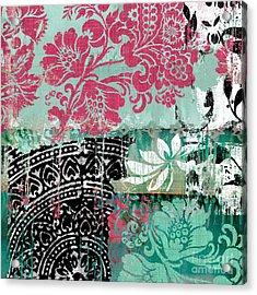 Serendipity Damask Batik II Acrylic Print