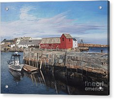 Serene Afternoon At Rockport Harbor    Acrylic Print