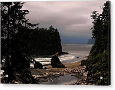 Serene And Pure - Ruby Beach - Olympic Peninsula Wa Acrylic Print by Christine Till