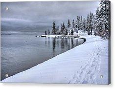 Serene Beauty Of Lake Tahoe Winter Acrylic Print