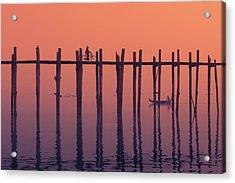 Serene Dawn Acrylic Print by Marji Lang