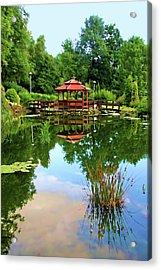 Serene Garden Acrylic Print