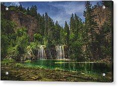 Serene Hanging Lake Waterfalls Acrylic Print