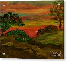 Serene Hillside II Acrylic Print by Marie Bulger