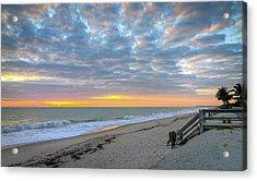 Serene Seascpe Sunrise Acrylic Print