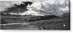 Serene Valley II Acrylic Print by Jon Glaser