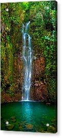 Serene Waterfall Acrylic Print by Monica and Michael Sweet