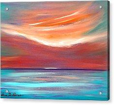Serenity 2 - Abstract Sunset Acrylic Print