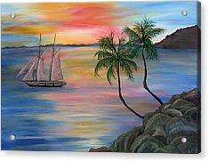 Serenity Bay Acrylic Print by Mikki Alhart