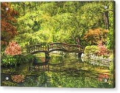 Serenity Bridge Acrylic Print