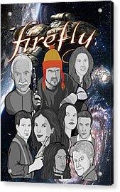 Serenity Firefly Crew Acrylic Print by Gary Niles