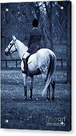 Serenity I - Blue Acrylic Print by J M Lister