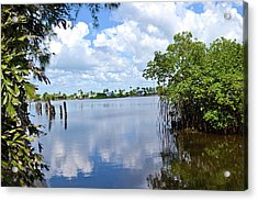 Acrylic Print featuring the photograph Serenity In Matlacha Florida by Timothy Lowry