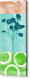 Serenity Acrylic Print by Linda Woods