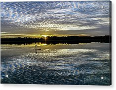 Serenity On A Paddleboard Acrylic Print