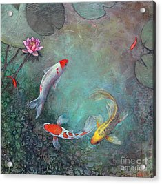 Serenity Pool Acrylic Print by Lori McNee