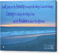 Serenity Prayer-1 Acrylic Print