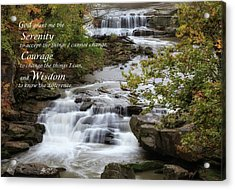 Acrylic Print featuring the photograph Serenity Prayer by Dale Kincaid