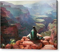Acrylic Print featuring the painting Serenity by Steve Henderson