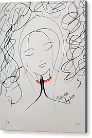 Serenity  Acrylic Print by Trilby Cole
