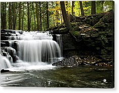 Acrylic Print featuring the photograph Serenity Waterfalls Landscape by Christina Rollo