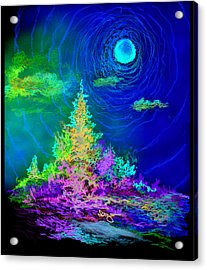 Serenity Acrylic Print by William Vanya