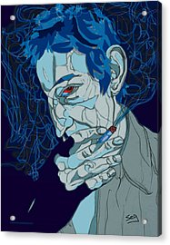 Serge Gainsbourg Acrylic Print by Suzanne Gee