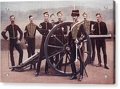 Sergeants Of The Royal Horse Artillery Acrylic Print by Vintage Design Pics