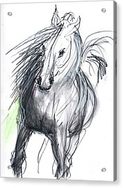 Acrylic Print featuring the mixed media Sergei by Carolyn Weltman