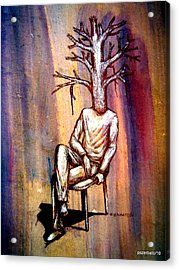 Series Trees Drought 2 Acrylic Print by Paulo Zerbato